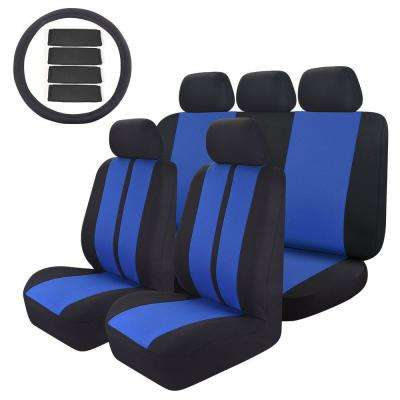 47 in. x 23 in. x 1 in 14PC Car Seat Covers Universal Custom Full Set for Car SUV Truck or Van, Blue