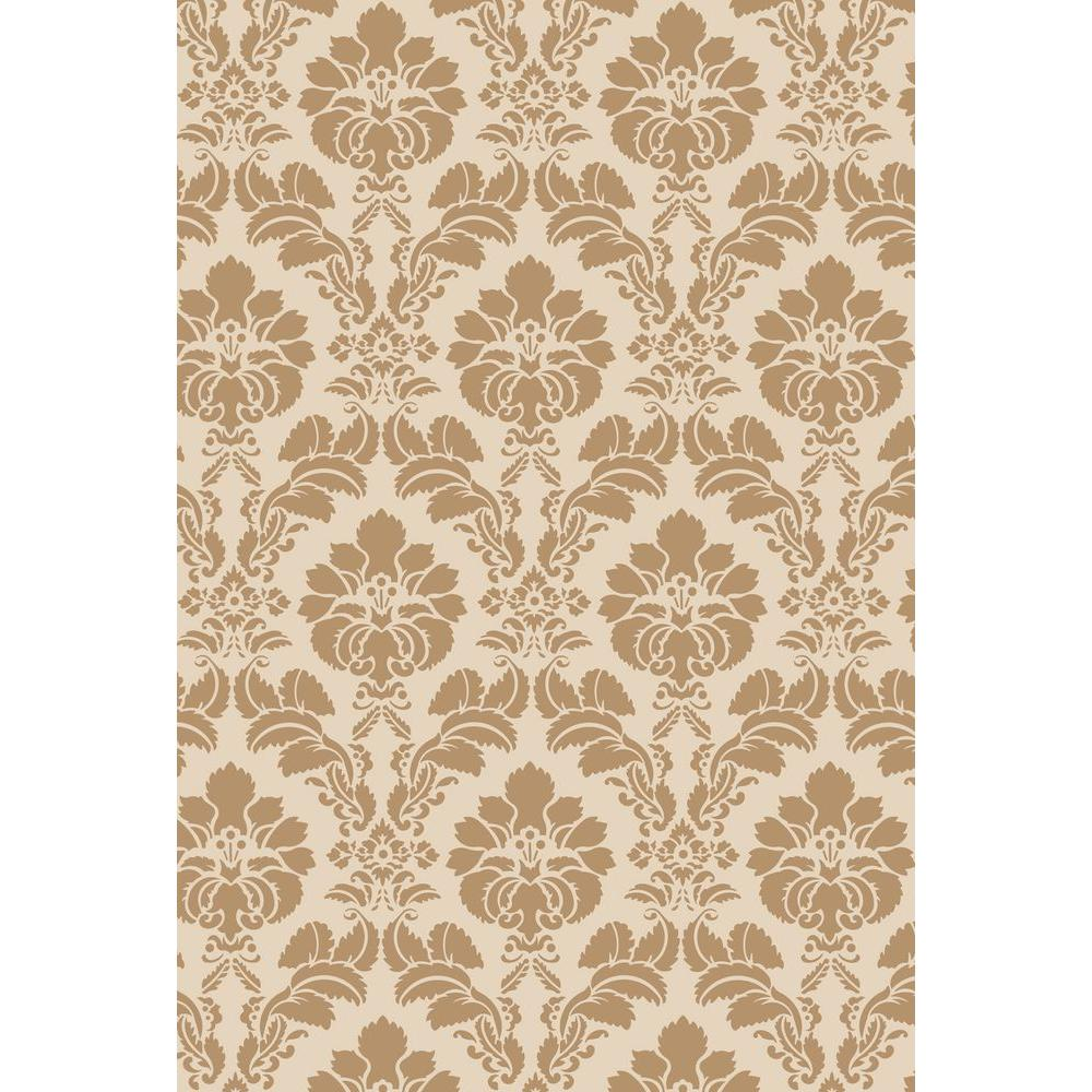 Stencil Ease 45 in. x 45 in. Floral Damask Wall and Floor Stencil