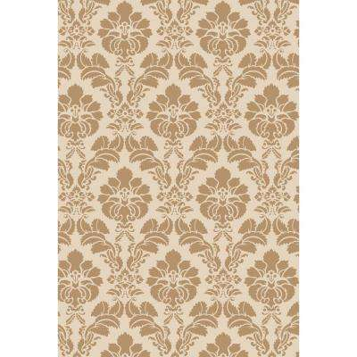 45 in. x 45 in. Floral Damask Wall and Floor Stencil