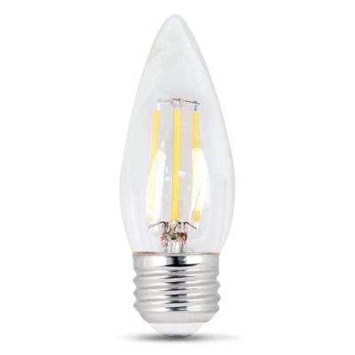 60-Watt Equivalent Daylight B10 Dimmable Clear Filament LED Medium Base Light Bulb (Case of 48)