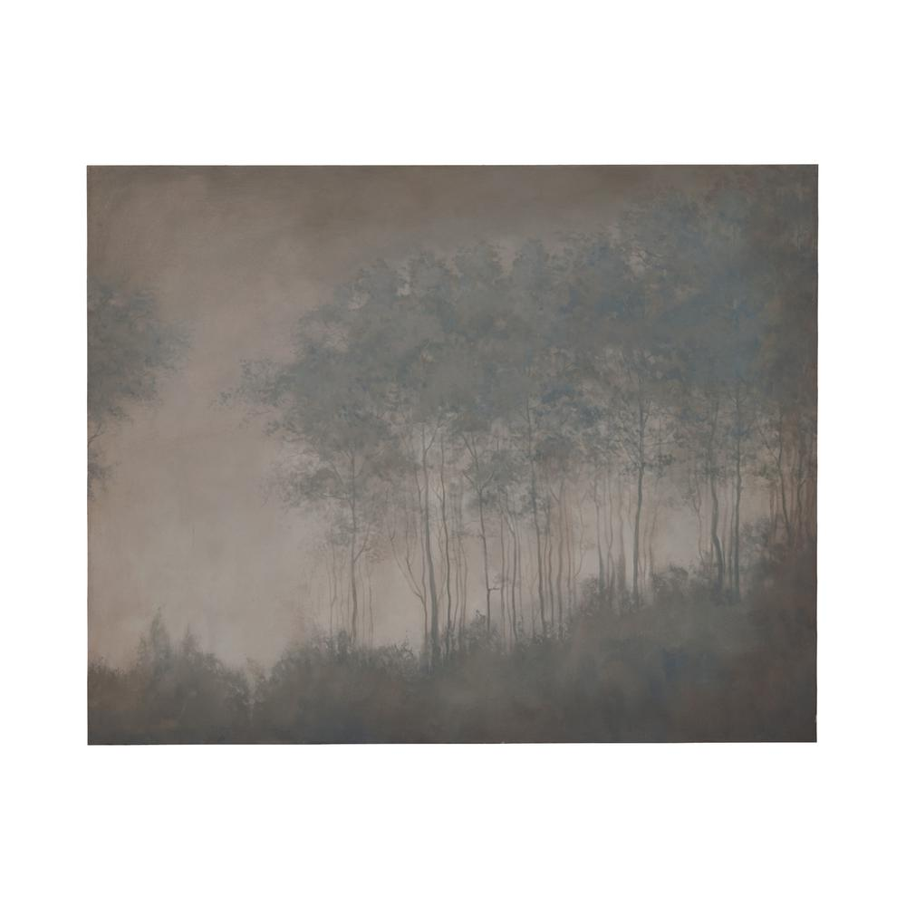 "48 in. x 60 in. ""Midnight Fog"" Hand Painted Framed Canvas"