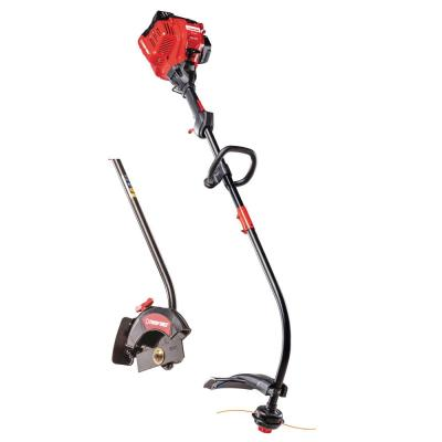 25 cc 2-Cycle Curved Shaft Gas Trimmer with Edger Attachment Included
