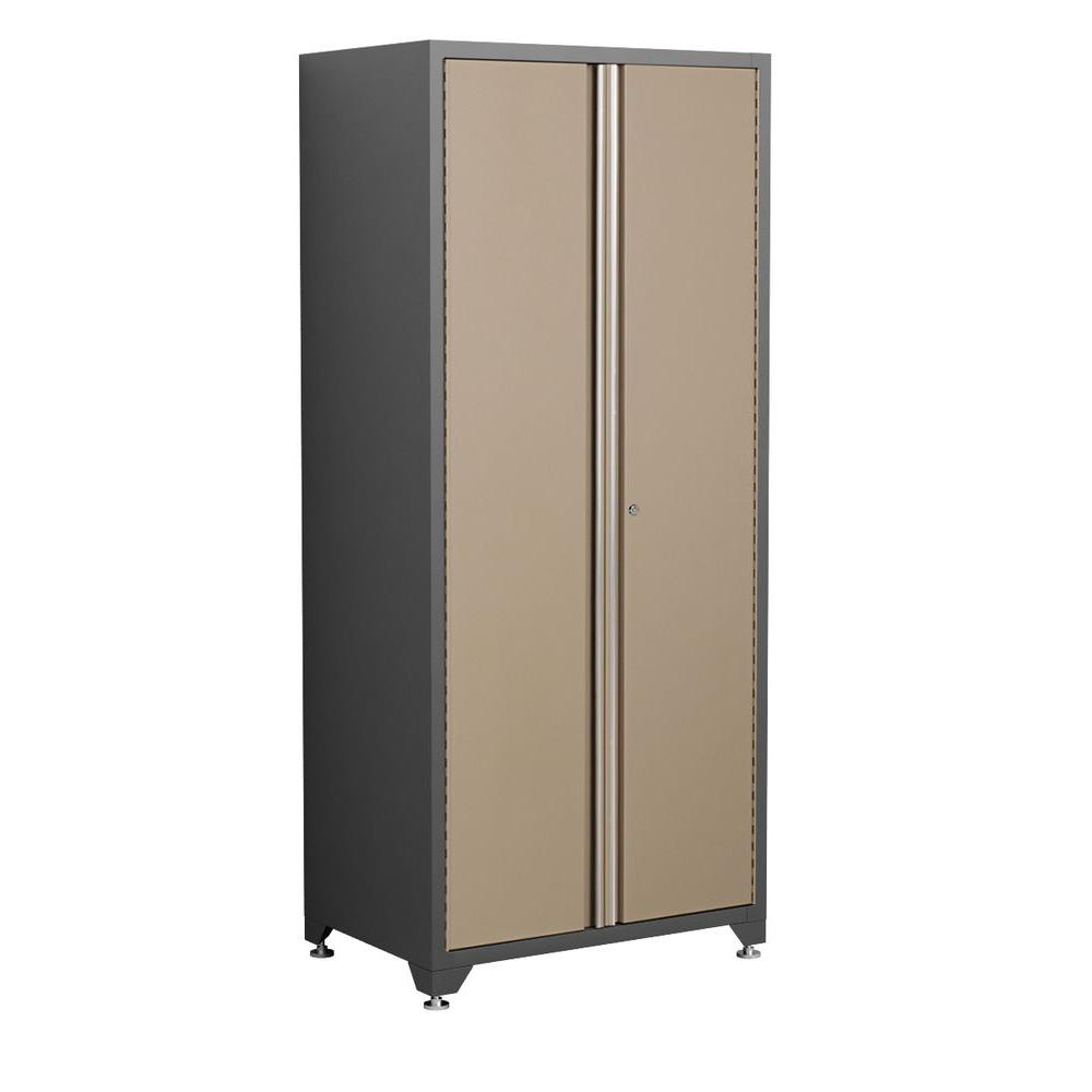 NewAge Products Pro Series 83 in. H x 36 in. W x 24 in. D 2-Door 18-Gauge Welded Steel Garage Cabinet in Taupe