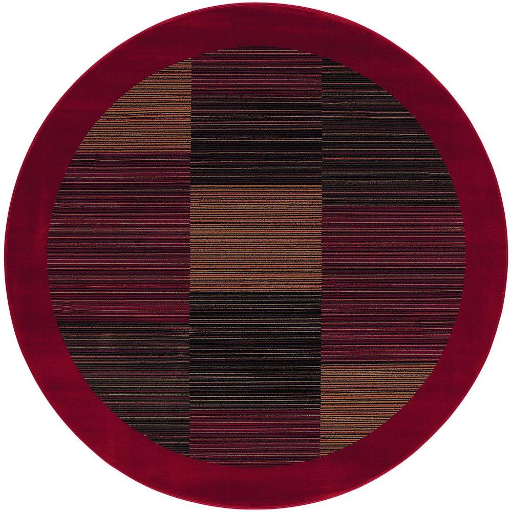 Couristan Everest Hampton's Red 7 ft. 10 in. x 7 ft. 10 in. Round Area Rug
