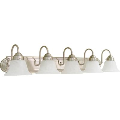 5-Light Brushed Nickel Bath Light