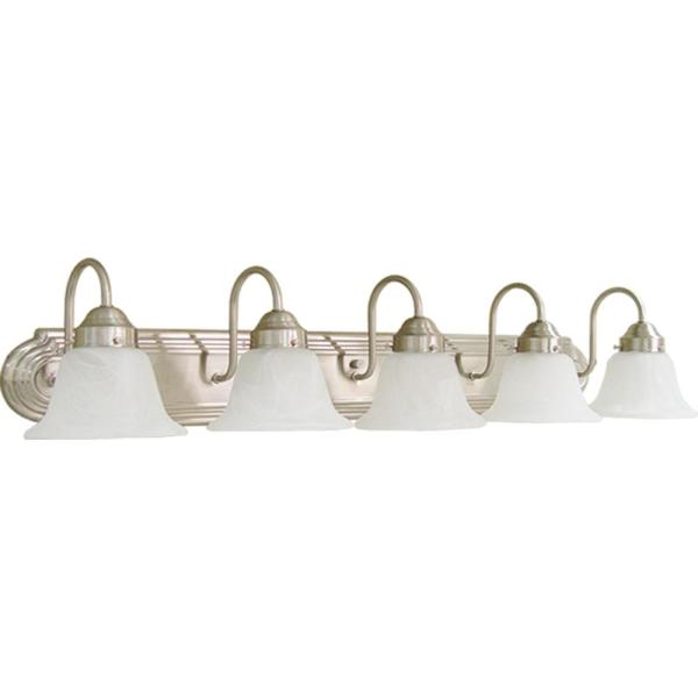 5-Light Brushed Nickel Bath Light