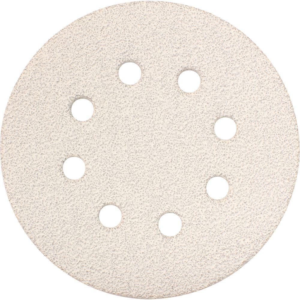 5 in. 40-Grit Hook and Loop Round Abrasive Disc (5-Pack) for use with Hook and Loop Orbital Sanders