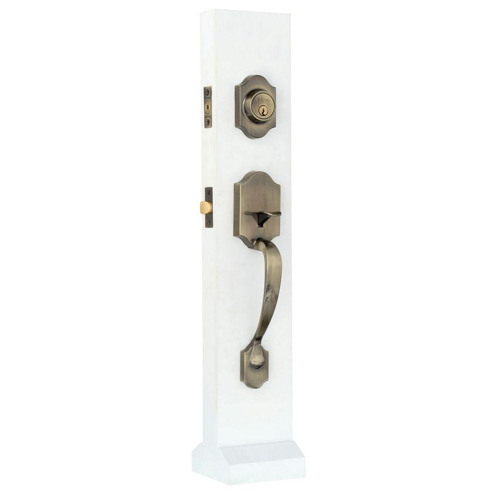 Toledo Fine Locks Cordoba Double Cylinder Deadbolt Antique Bronze  Reversible Entry Door Handleset