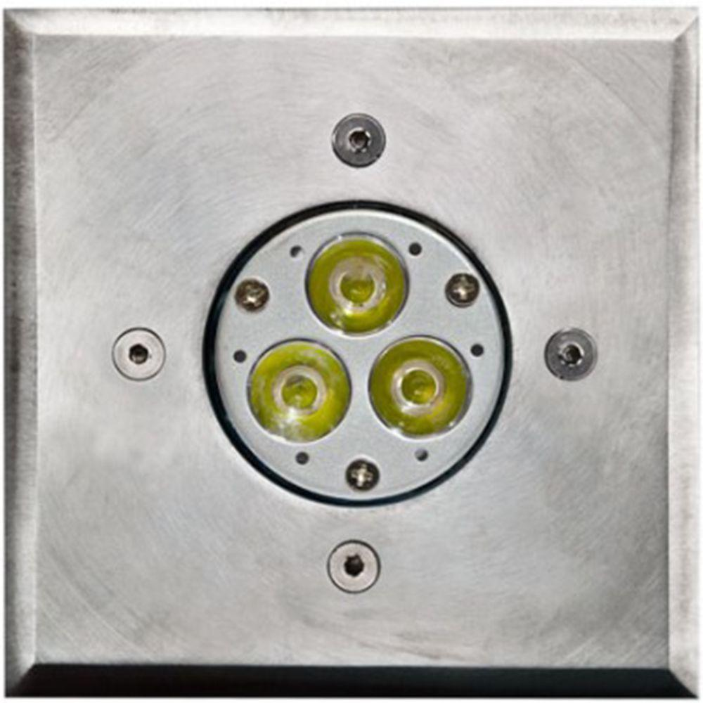 Brantley 3-Light Stainless Steel Outdoor LED In-Ground Well Light