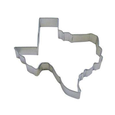 12-Piece 5 in. Texas State Tinplated Steel Cookie Cutter & Recipe
