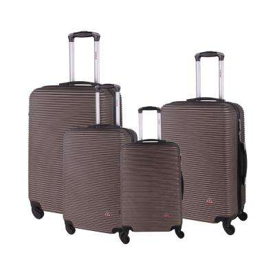 "Royal lightweight hardside spinner 4 piece Set 20"", 24'', 28"", 32"" Brown"