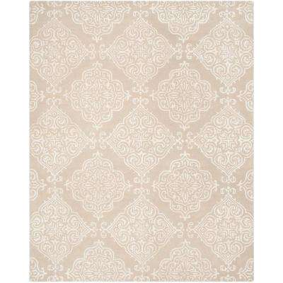 Glamour Beige/Ivory 8 ft. x 10 ft. Area Rug