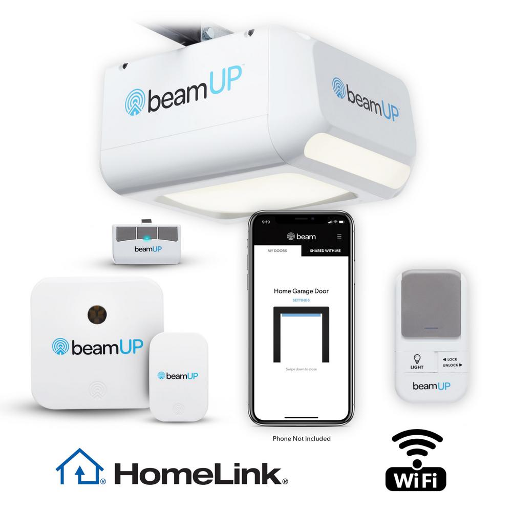 Beamup Sentry Bu400 Smart Garage Door Opener Wifi And Alexa Enabled No Subscription Fees Bu400 The Home Depot