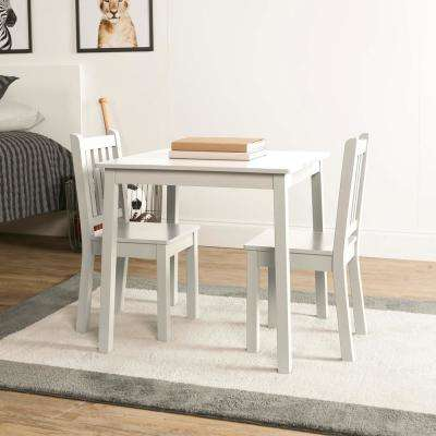 Daylight 3-Piece White Kids Table and Chair Set