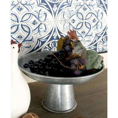 12 in. x 7 in. Farmhouse-Inspired Galvanized Iron Cupcake Stand
