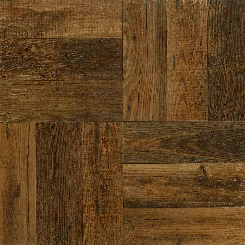 Armstrong Rustic Wood 12 In X 12 In Peel And Stick Vinyl Tile 30