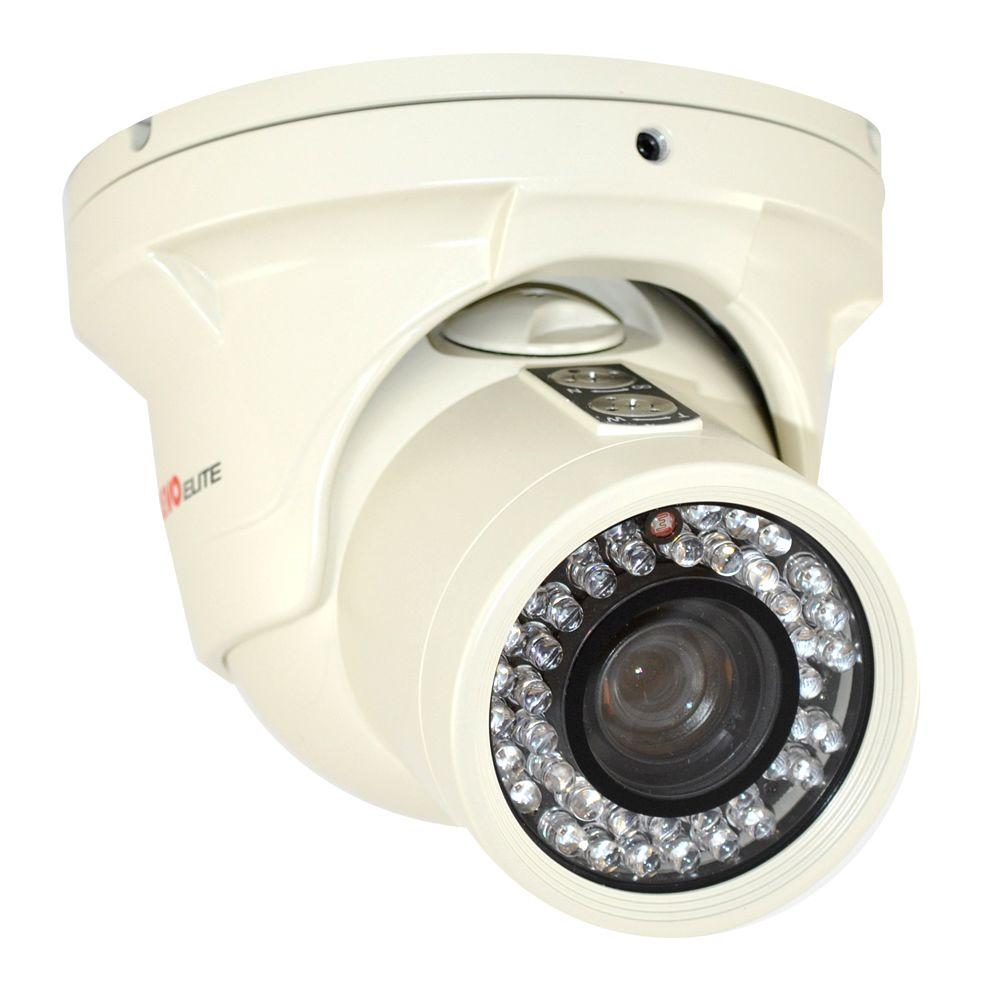 Elite 700 TVL Indoor/Outdoor Turret Surveillance Camera with 150 ft. Night