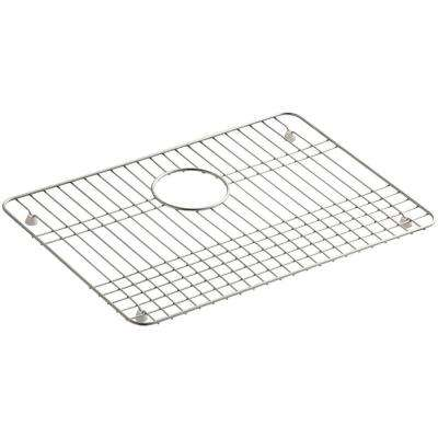 Iron/Tones 19-1/2 in. x 14 in. Bottom Sink Bowl Rack in Stainless Steel