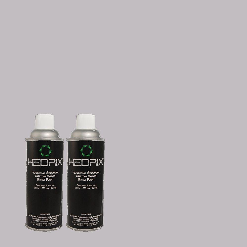 Hedrix 11 oz. Match of 3A49-3 Dried Heather Gloss Custom Spray Paint (2-Pack)