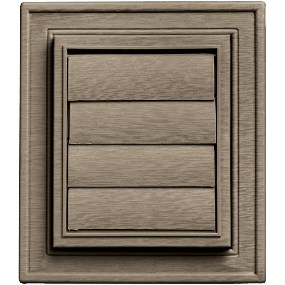 Builders Edge Square Exhaust Siding Vent #095-Clay, Brown...
