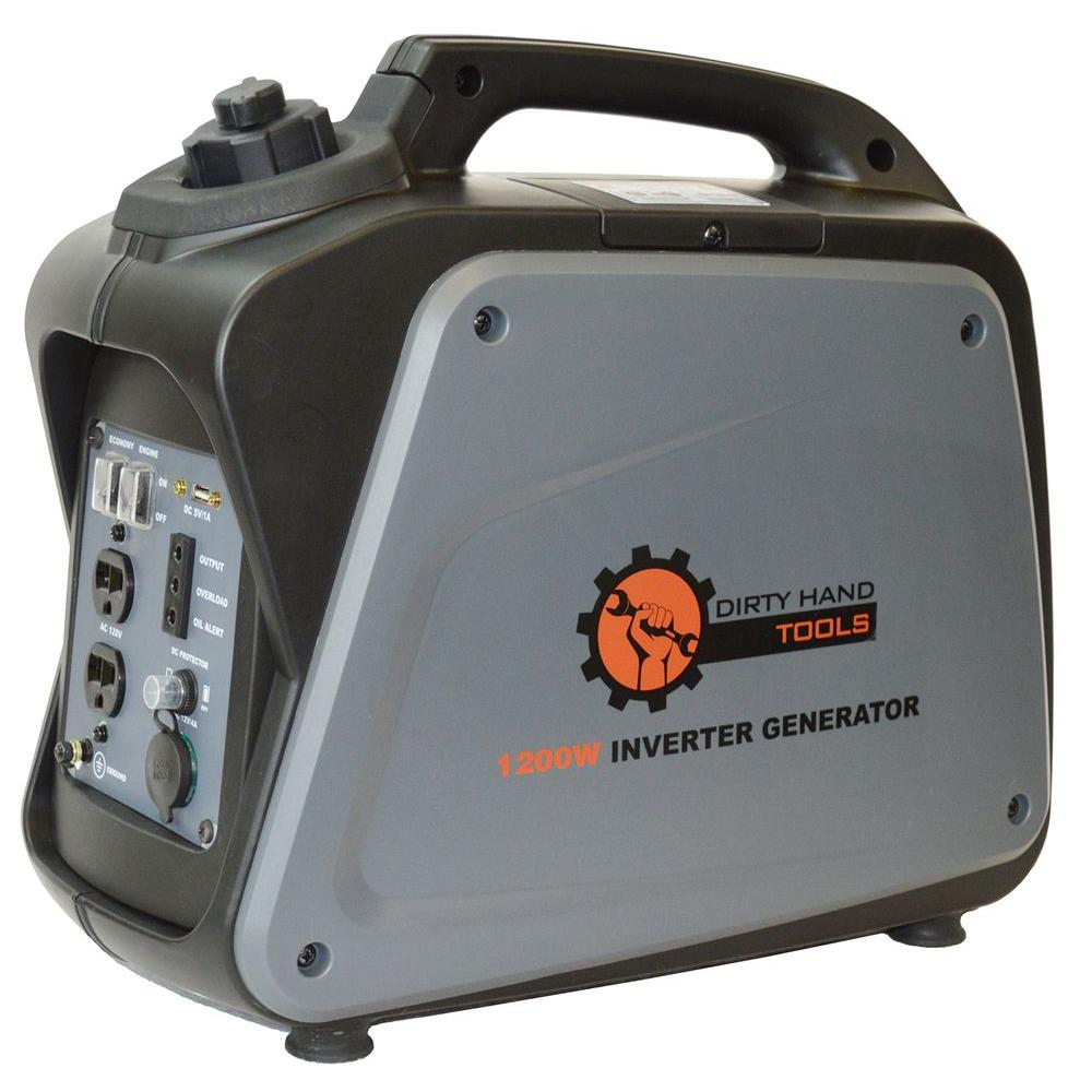 1000-Watt Gasoline Powered Portable Generator with Digita...