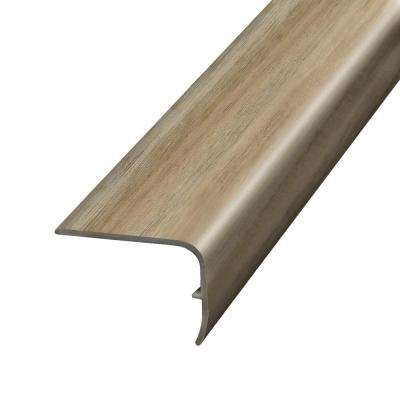 Acacia Beige and Grey 1.32 in. Thick x 1.88 in. Wide x 78.7 in. Length Vinyl Stair Nose Molding