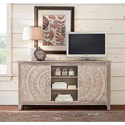 Chennai Grey Wash Storage Entertainment Center
