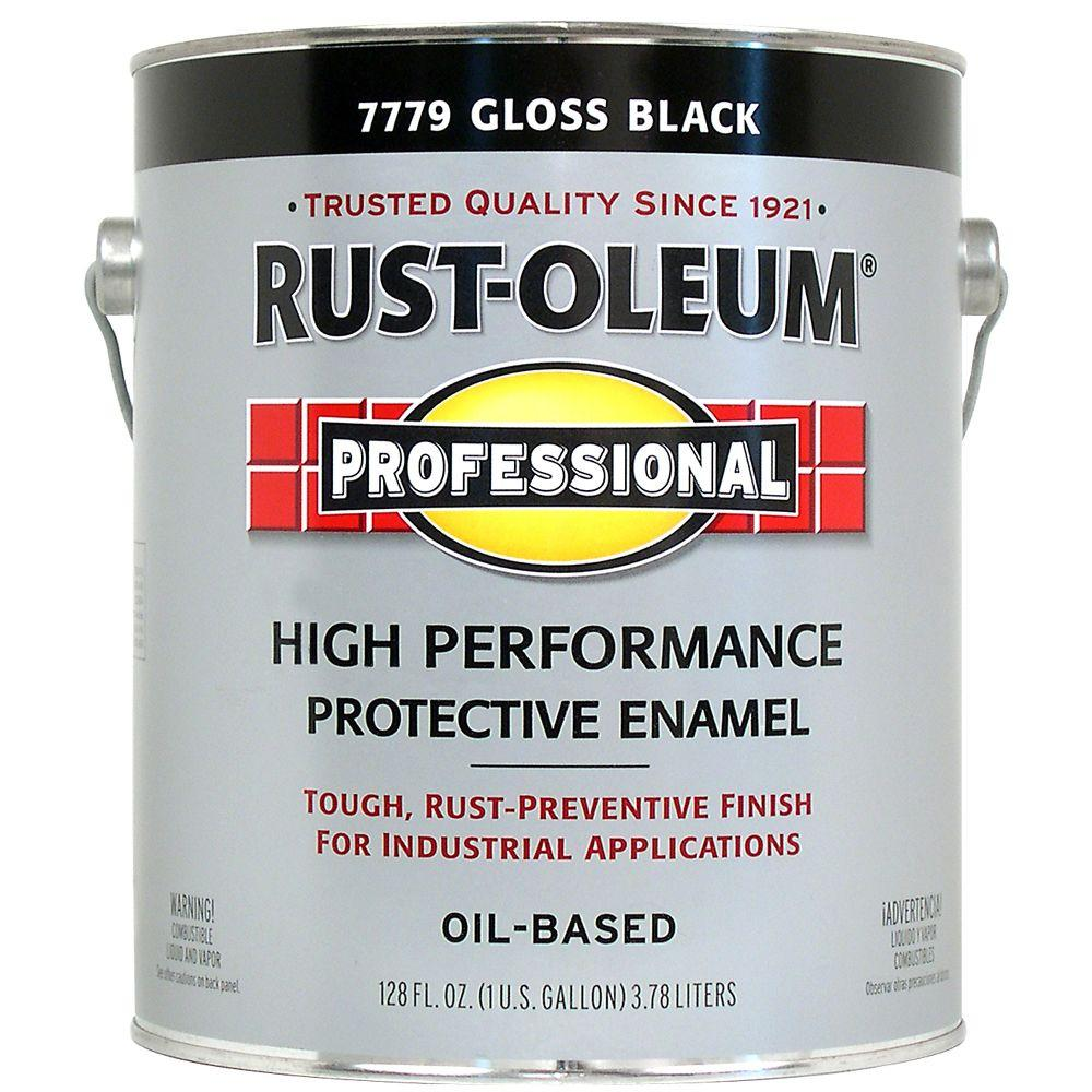 Rust-Oleum Professional Gloss Black 1 Gallon Oil Based Enamel-DISCONTINUED