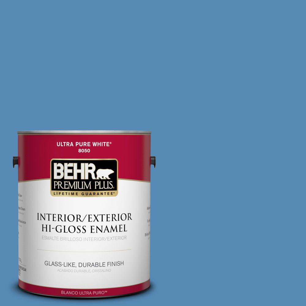 1-gal. #M520-5 Alpha Blue Hi-Gloss Enamel Interior/Exterior Paint