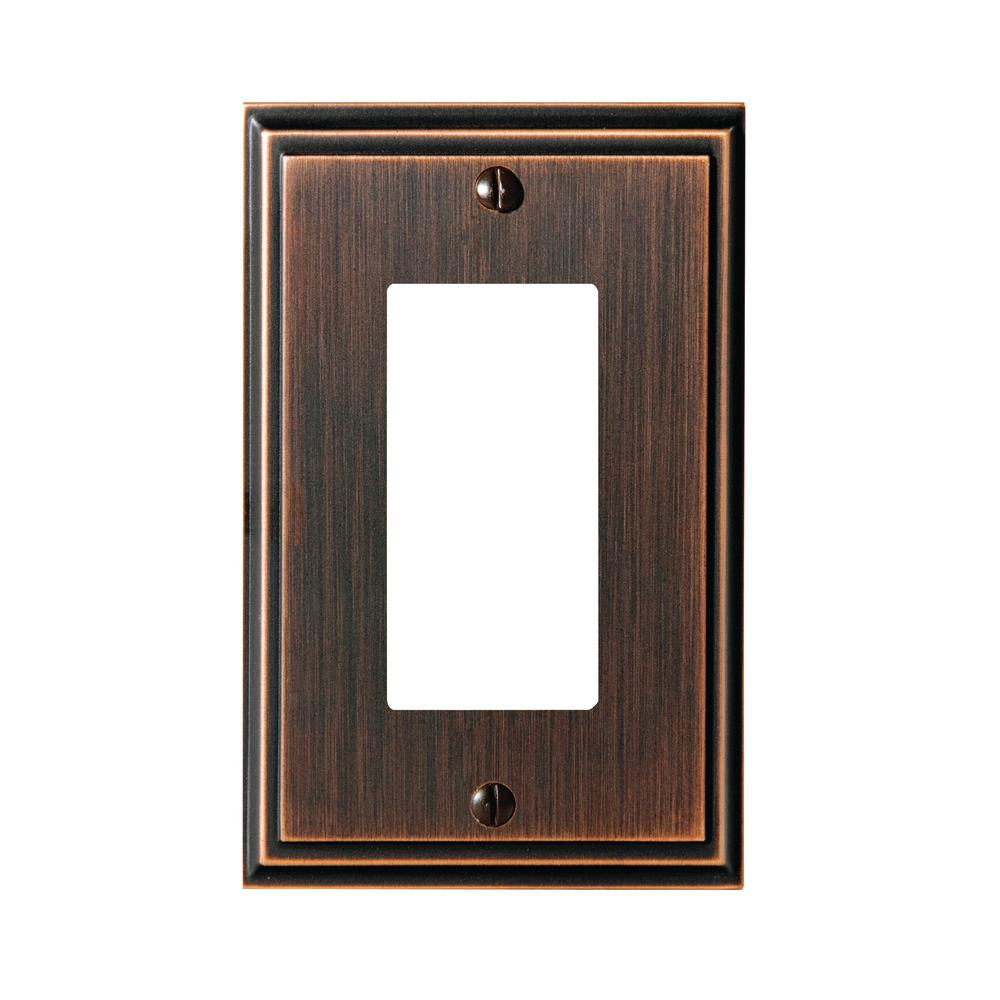 Mulholland 1-Rocker Wall Plate, Oil-Rubbed Bronze