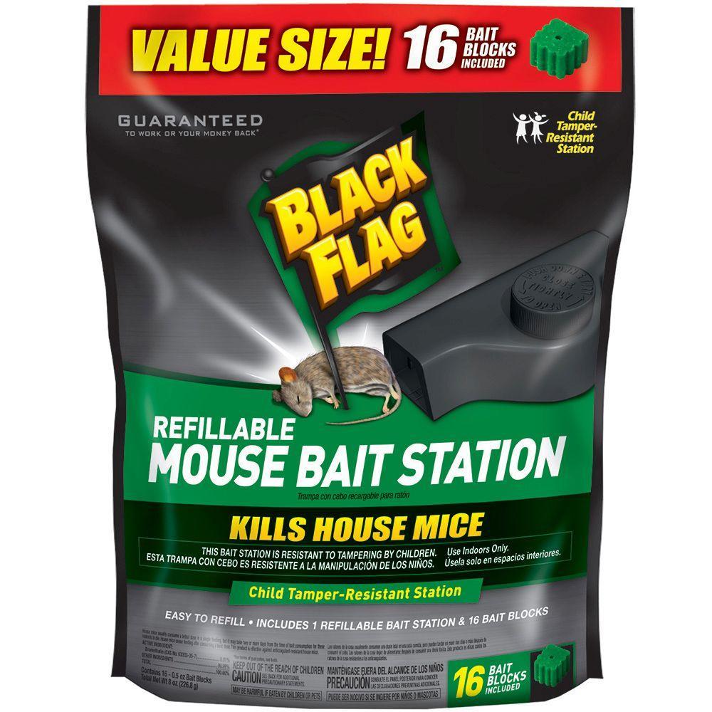 Refillable Mouse Bait Station (16-Blocks)