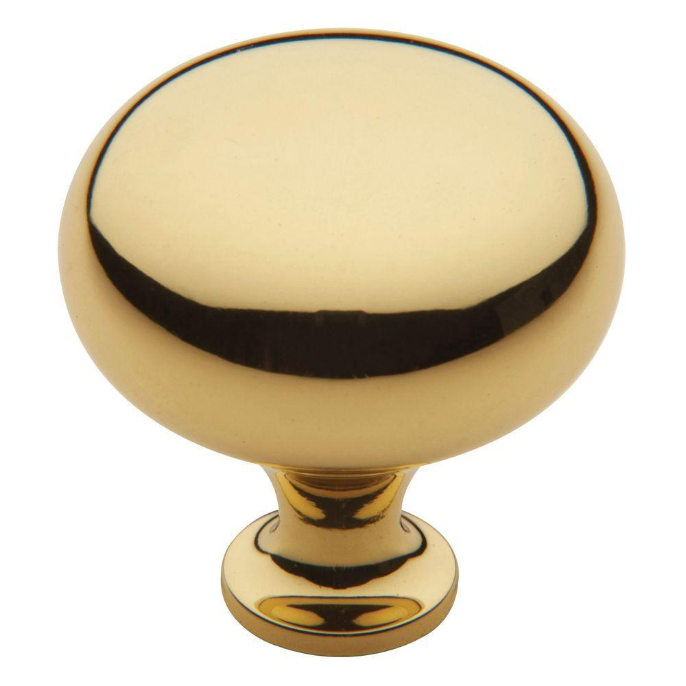 Classic 1-3/4 in. Polished Brass Round Cabinet Knob