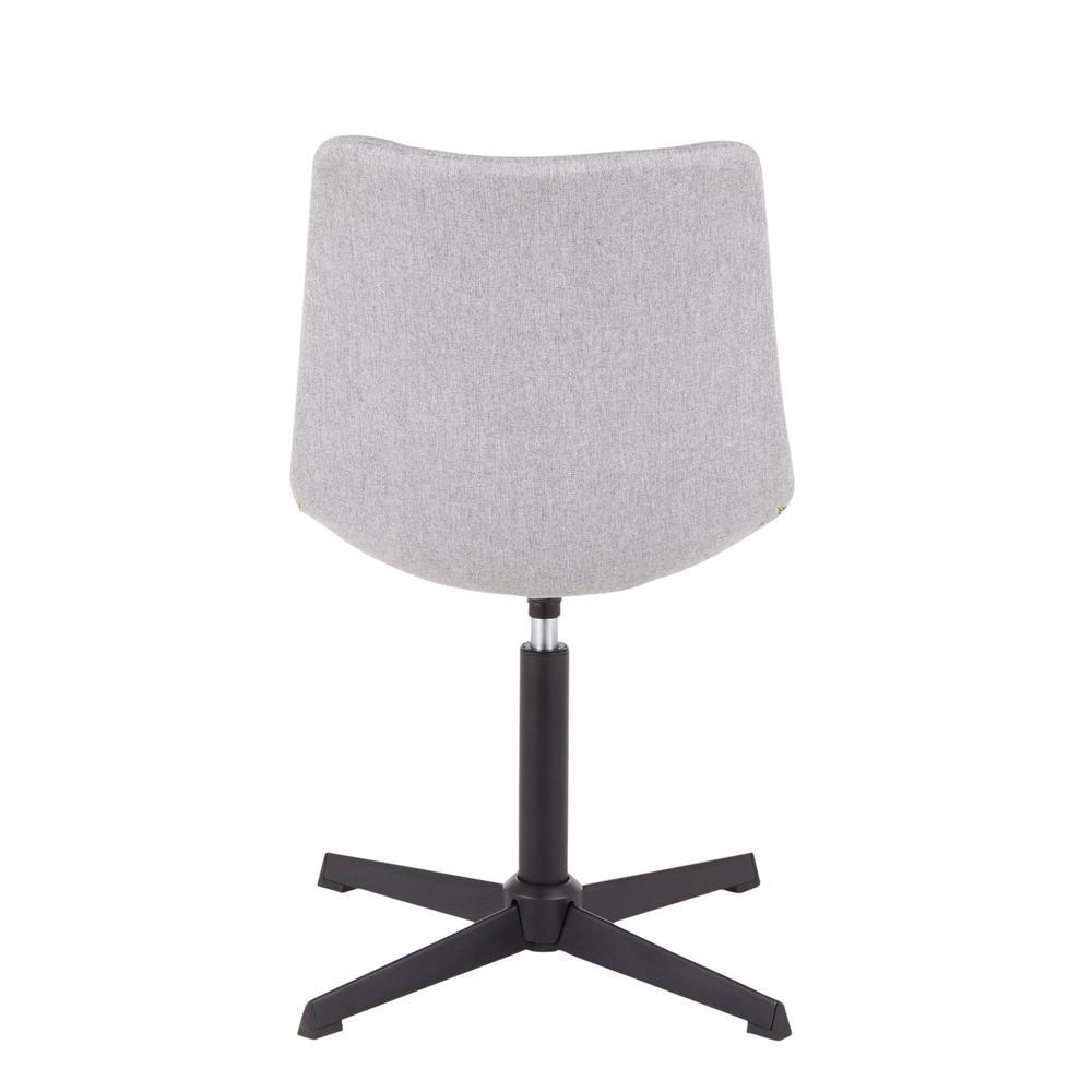 Pleasing Lumisource Quad Grey Fabric Swivel Chair With 4 Star Metal Evergreenethics Interior Chair Design Evergreenethicsorg