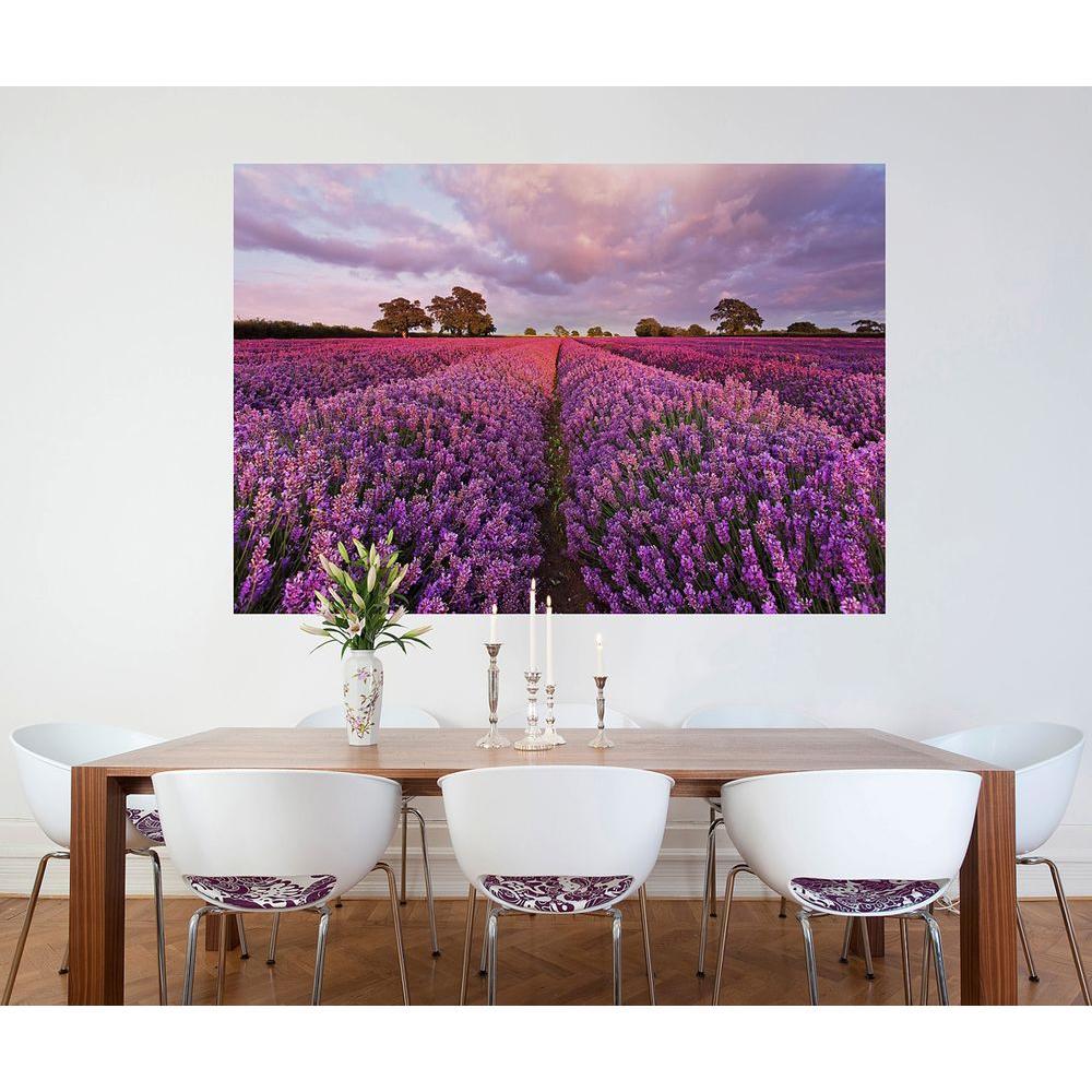 50 in. x 72 in. Lavender Wall Mural