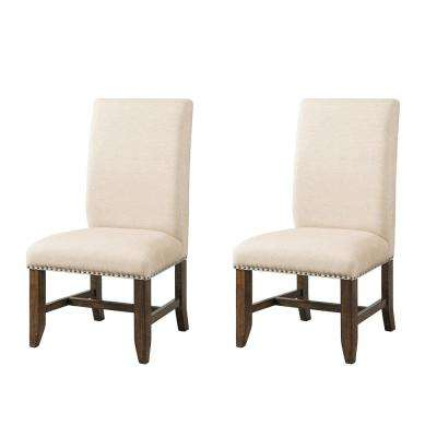 Francis Natural Upholstered Side Chair Set