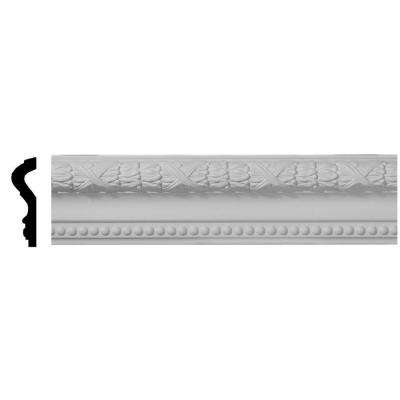 1-1/8 in. x 4 in. x 96 in. Polyurethane Dublin Leaves Chair Rail Moulding