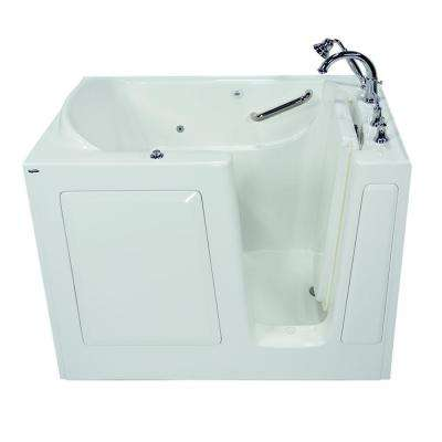 Exclusive Series 51 in. x 31 in. Right Hand Walk-In Whirlpool Tub with Quick Drain in White