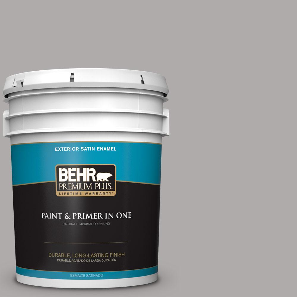 5 gal. #PPU18-14 Cathedral Gray Satin Enamel Exterior Paint and Primer