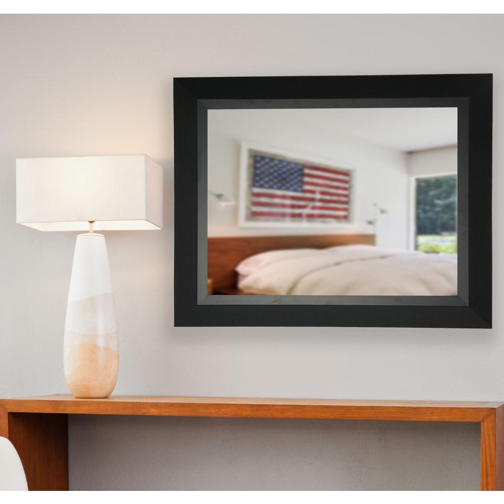 21 5 in x 25 5 in charming matte black non beveled for 4 x 5 wall mirror