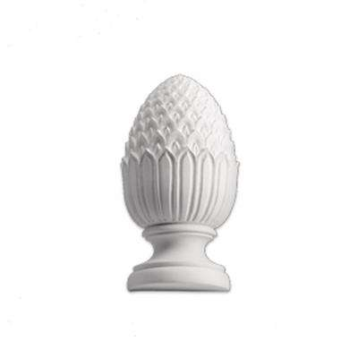 7-1/8 in. x 6-1/8 in. x 14 in. Polyurethane Full Round Pineapple Finial