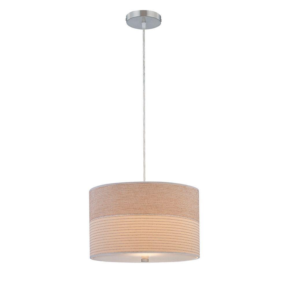 Illumine 1-Light Pendant Polished Steel Finish-DISCONTINUED
