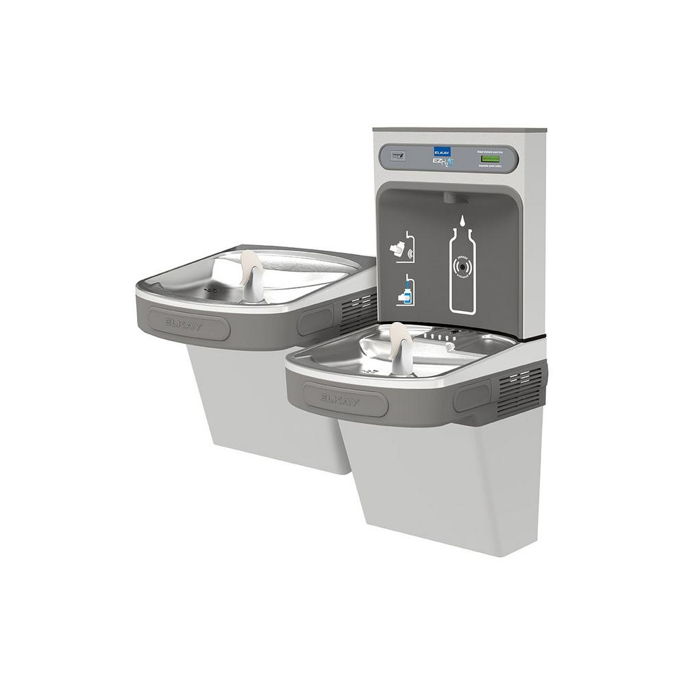 Elkay Non-Filtered 8 GPH EZH2O ADA Stainless Steel Bi-Level Drinking  Fountain with Bottle Filling Station