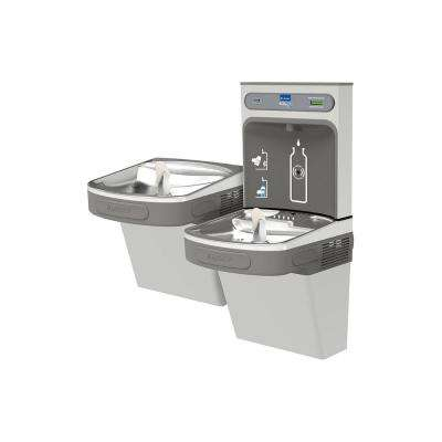 Non-Filtered 8 GPH EZH2O ADA Stainless Steel Bi-Level Drinking Fountain with Bottle Filling Station
