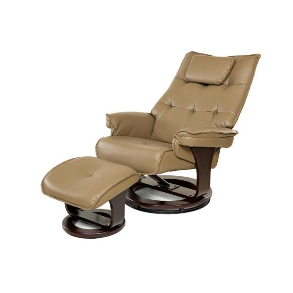 Relaxzen Mocha 8-Motor Massage Recliner with Lumbar Heat and Ottoman