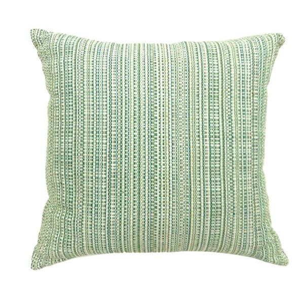 Olive Grey Floral Polyester 18 in. x 18 in. Throw Pillow ...