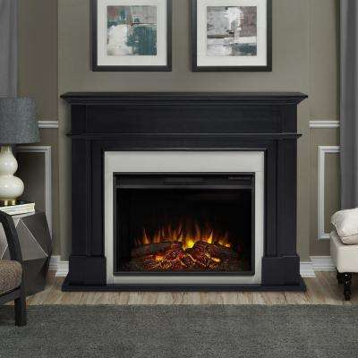 Harlan Grand 55 in. Electric Fireplace in Black