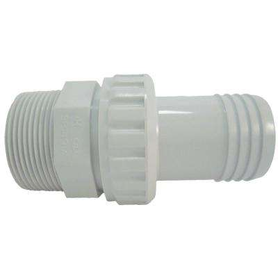 1/2 in. MIP Quick Disconnect Econo Union with 1-1/2 in. Hose Barb in White