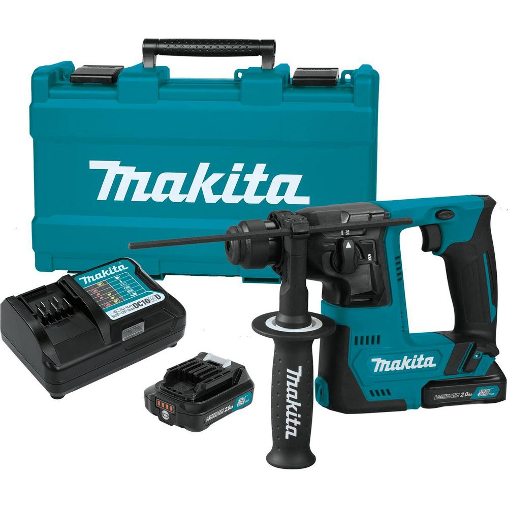 Makita 12-Volt CXT Lithium-Ion Cordless 9/16 in. Rotary H...