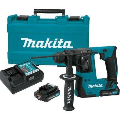 Makita 12-Volt CXT Lithium-Ion Cordless 9/16 in. Rotary Hammer Kit, accepts SDS-PLUS bits (2.0Ah)