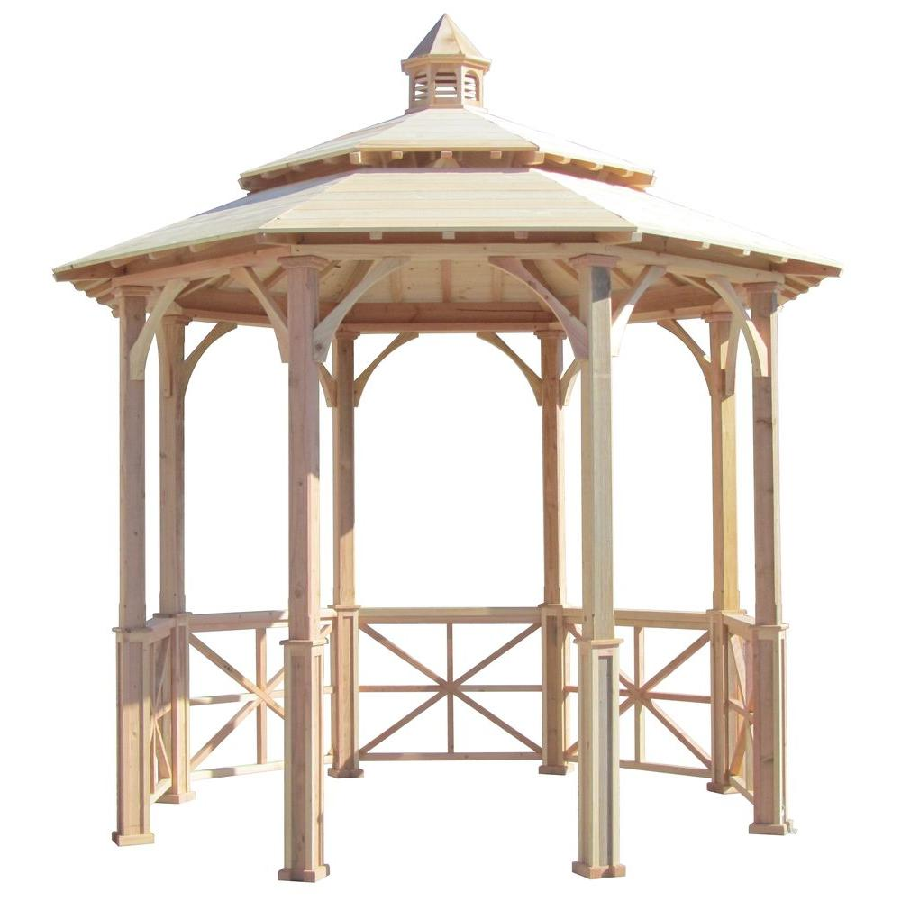 10 ft. Octagon English Cottage Garden Gazebo with 2-Tiered Roof and